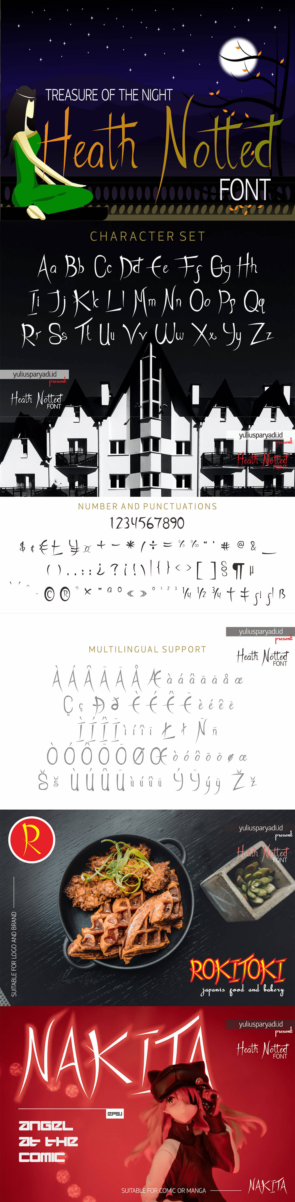 Free Heath Notted Display Font