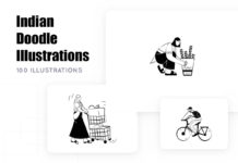 Free Indian Doodle Illustration Pack