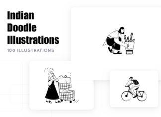 Free Indian Doodle Illustration Pack