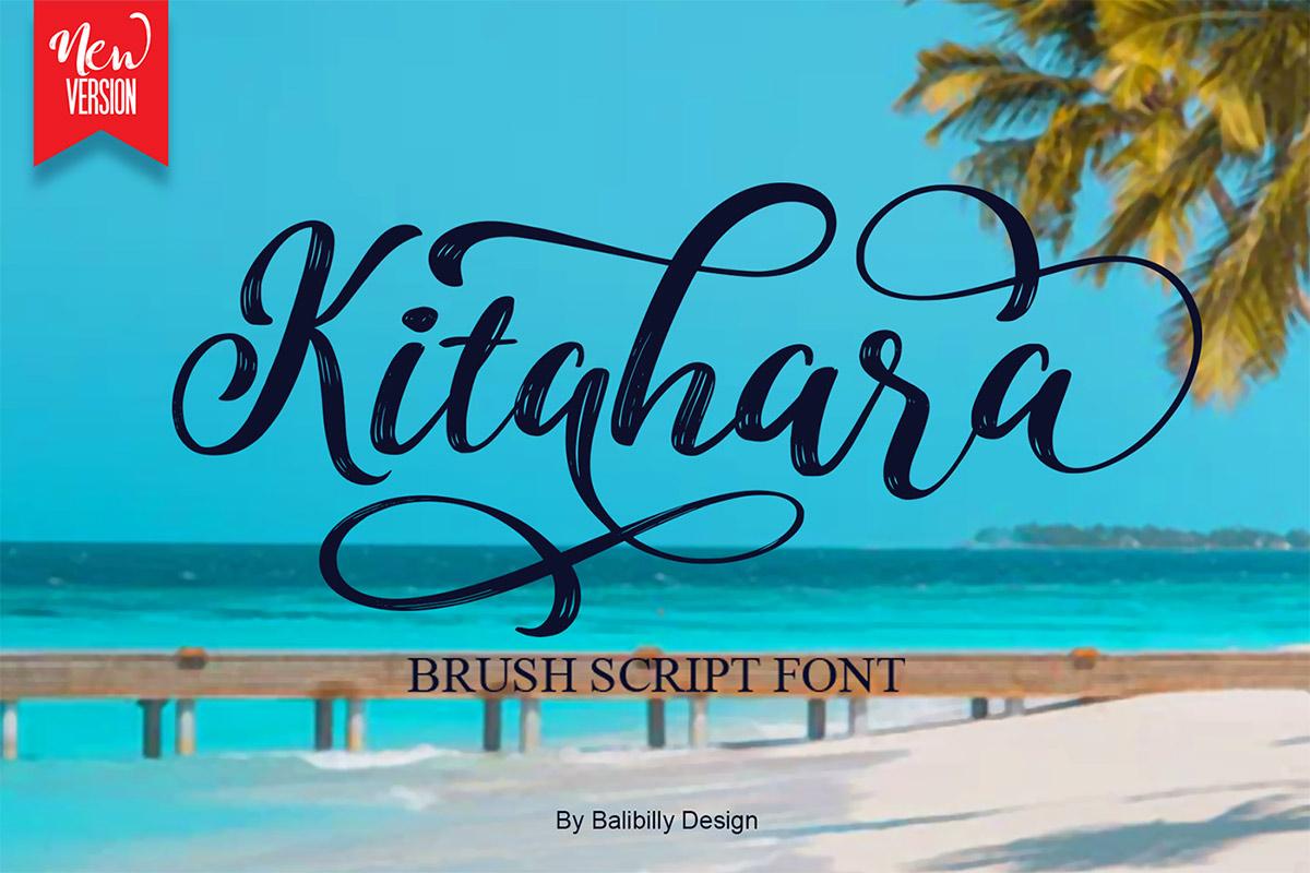 Free Kitahara Brush Script Font