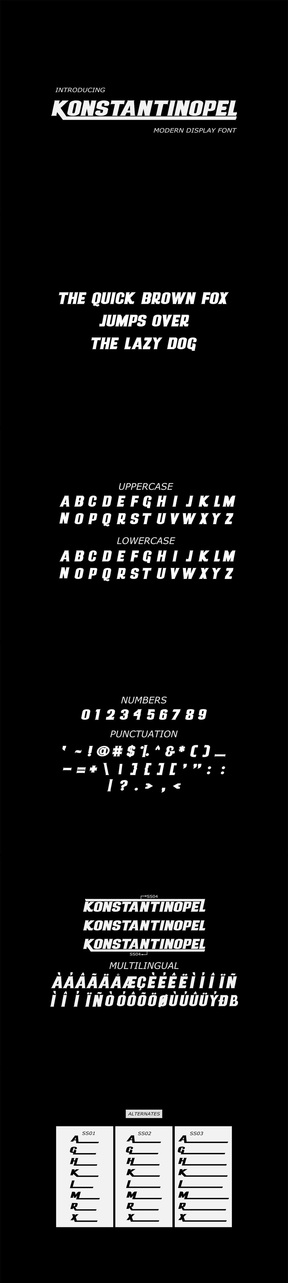 Free Konstantinopel Display Font