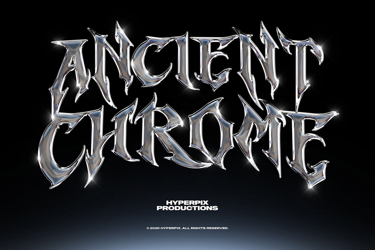 Free Metal Chrome Text Effect