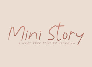Free Mini Story Handwriting Font