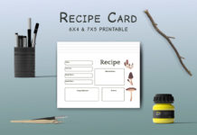 Free Mushroom Recipe Card Template