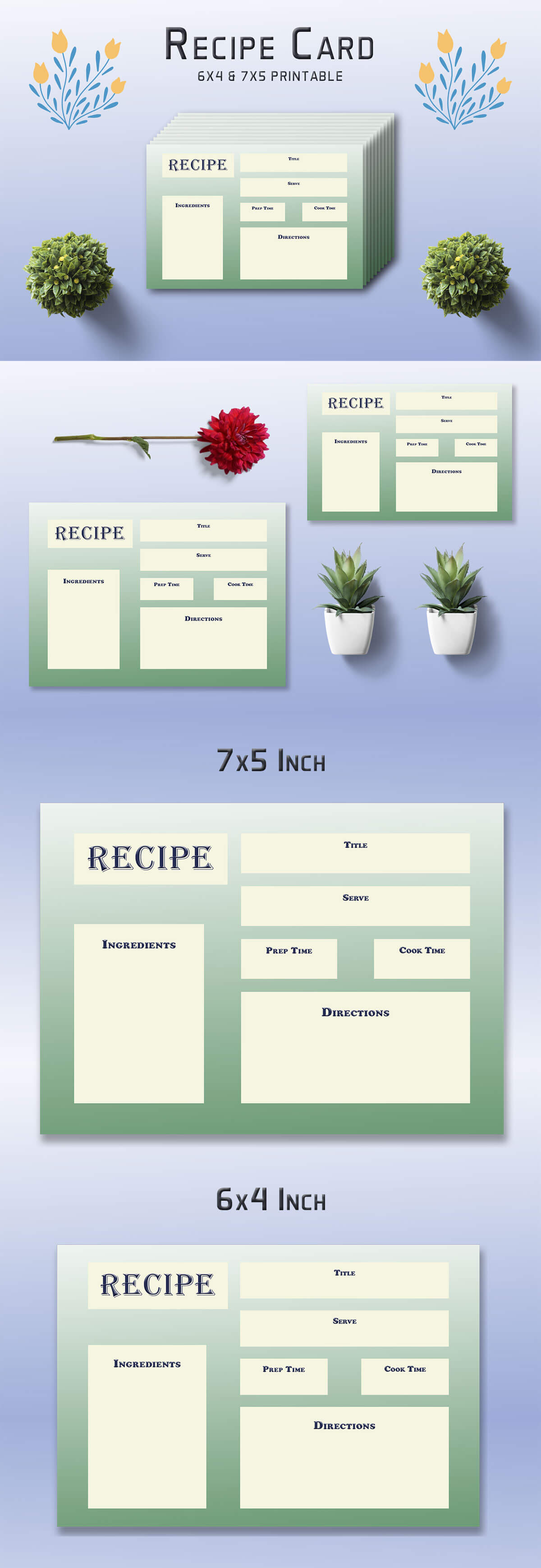 Ornate Recipe Card Template