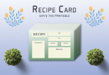 Ornate Recipe Card Template