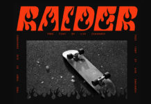Free Raider Fancy Font