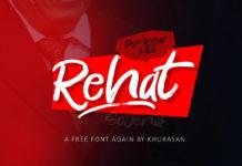 Free Rehat Script Font