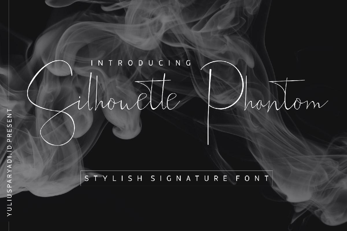 Free Silhouette Phantom Signature Font
