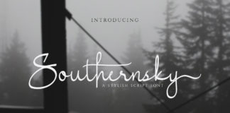 Free Southernsky Script Font