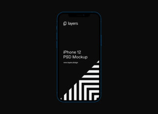 Free iPhone 12 PSD Vector Mockup