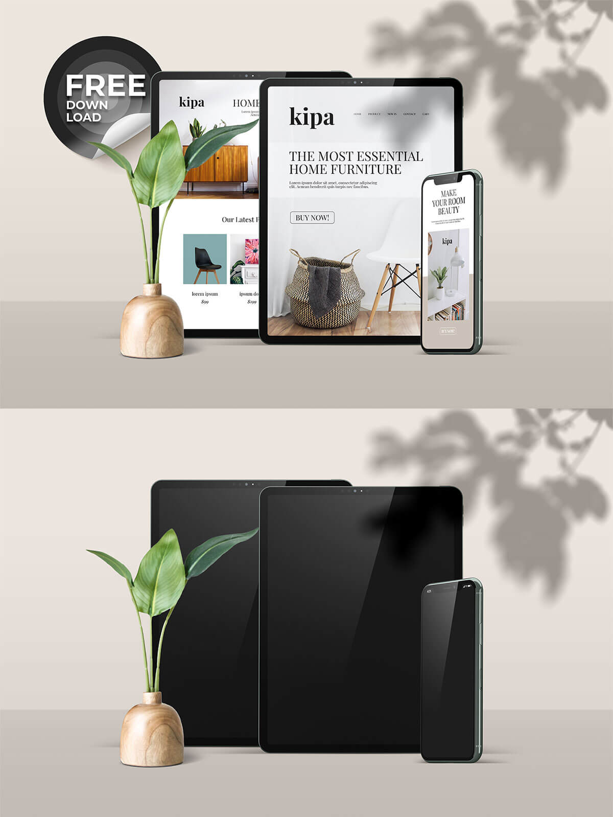 Free iPhone & iPad Mockup
