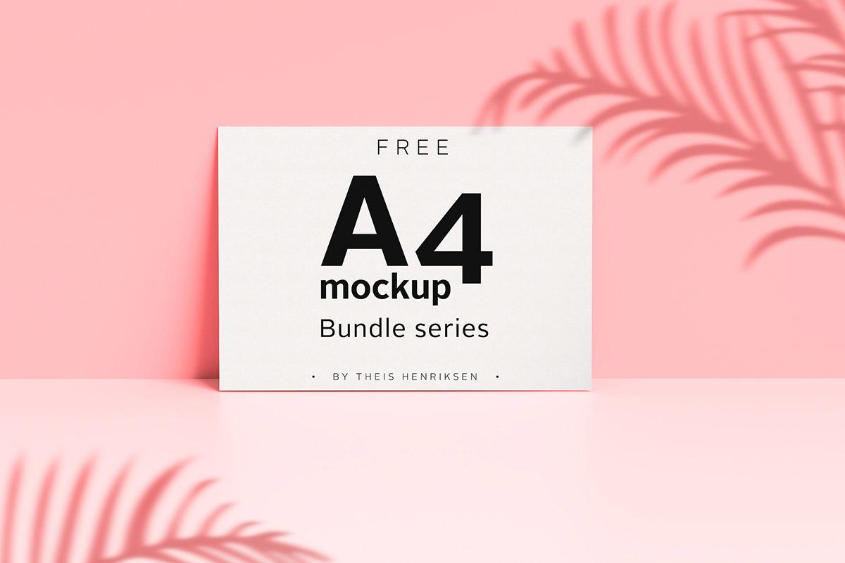 Free A4 Mockup Bundle Series