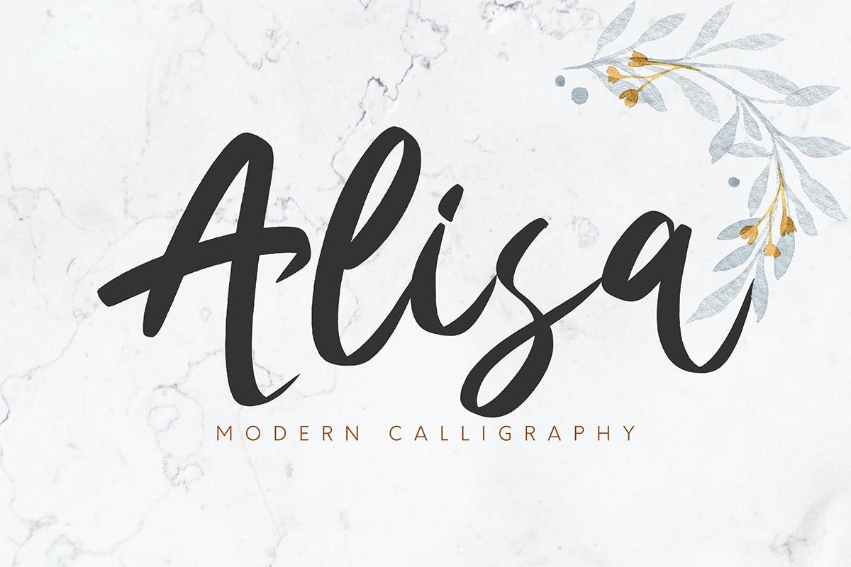 Free Alisa Calligraphy Font