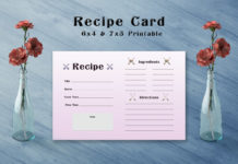Free Arrow Recipe Card Template V1