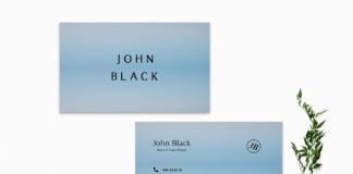 Free Blue Business Card Template
