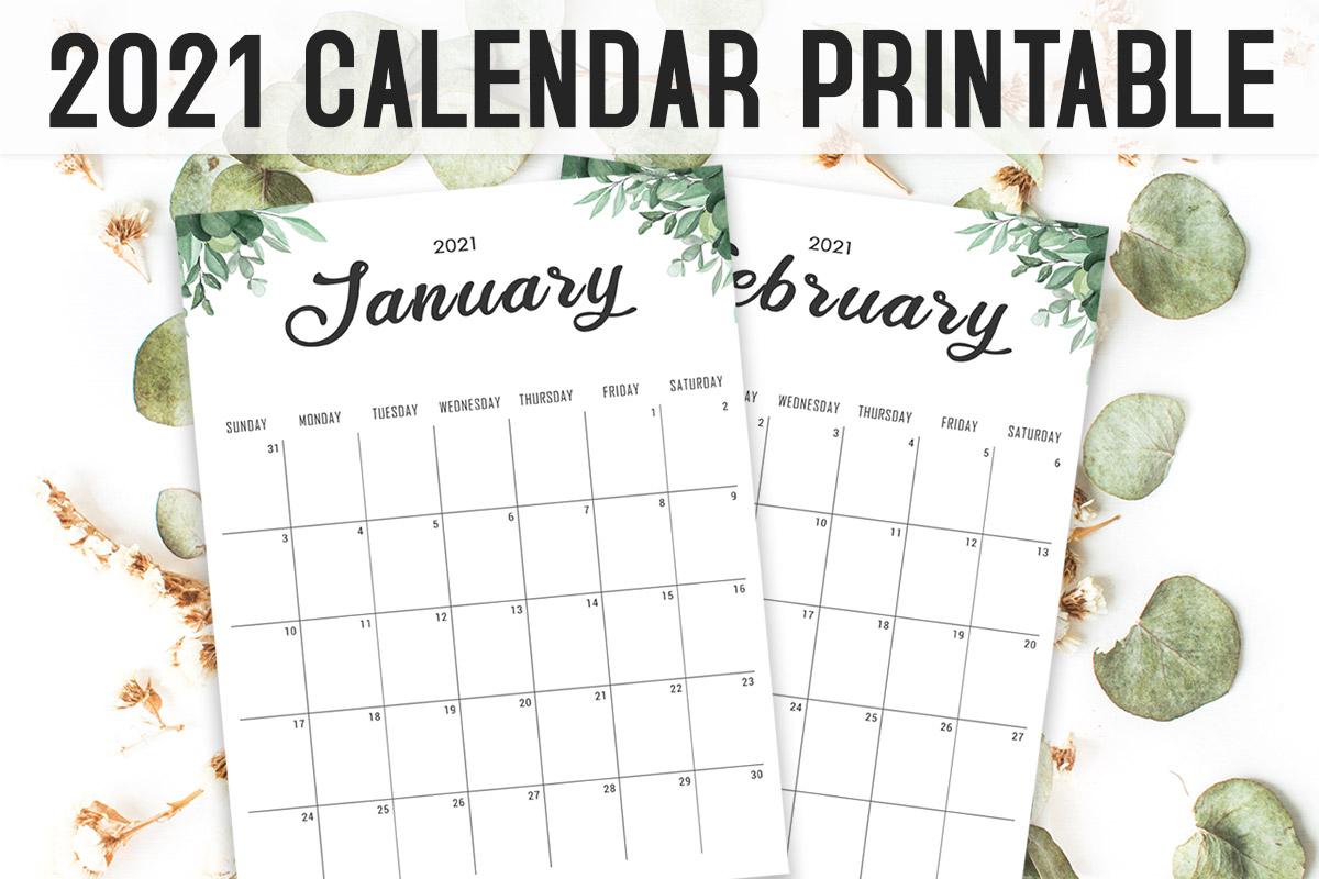 Free Calendar 2021 Printable Template