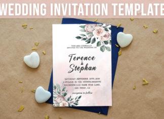 Free Floral Wedding Invitation Template
