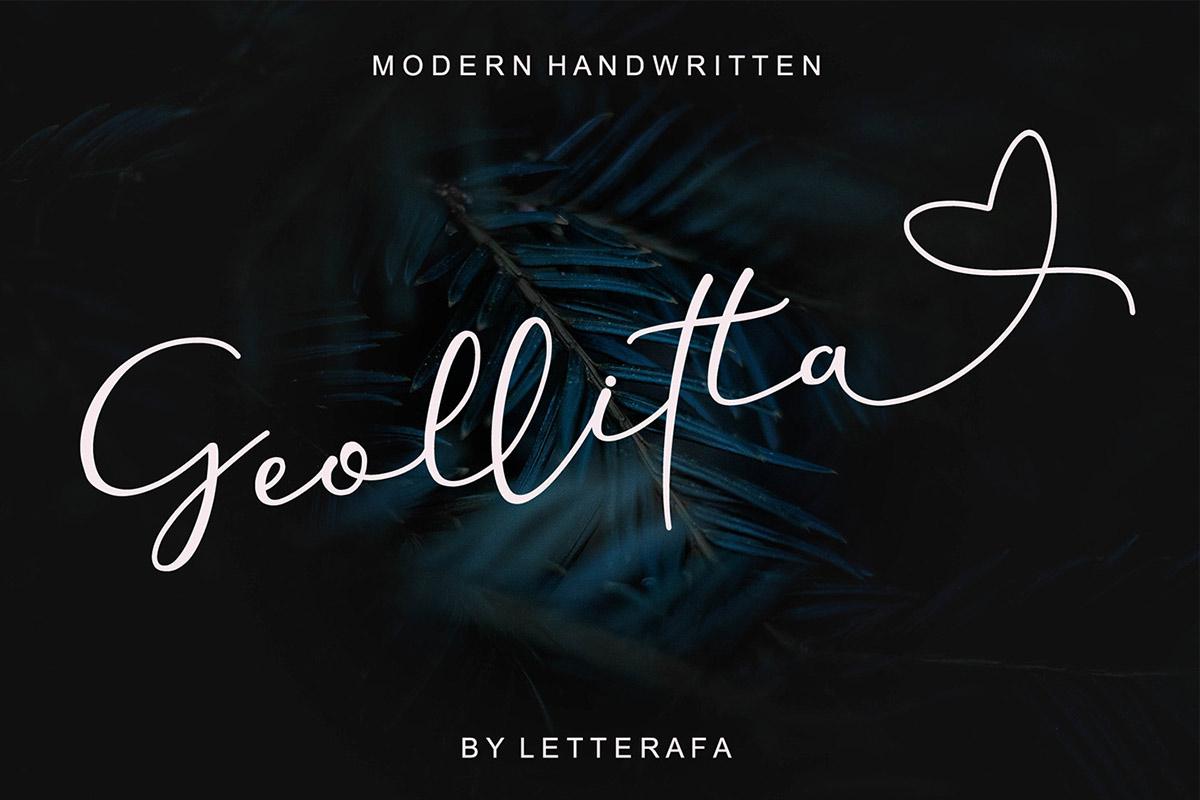 Free Geollitta Handwritten Font