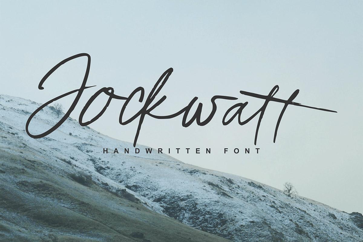 Free Jockwatt Handwritten Font