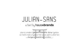 Free Julian Sans Serif Font