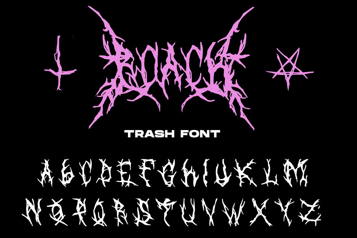Free Roach Trash Font