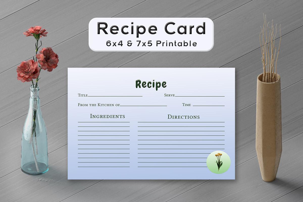 Free Simple Plants Recipe Card Template