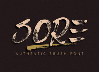 Free Sore Brush Font