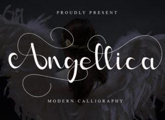 Free Angellina Calligraphy Font