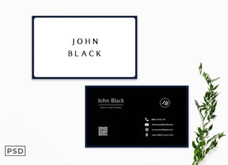 Free Black & White Business Card Template