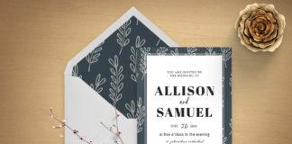 Free Botanical Wedding Invitation Template