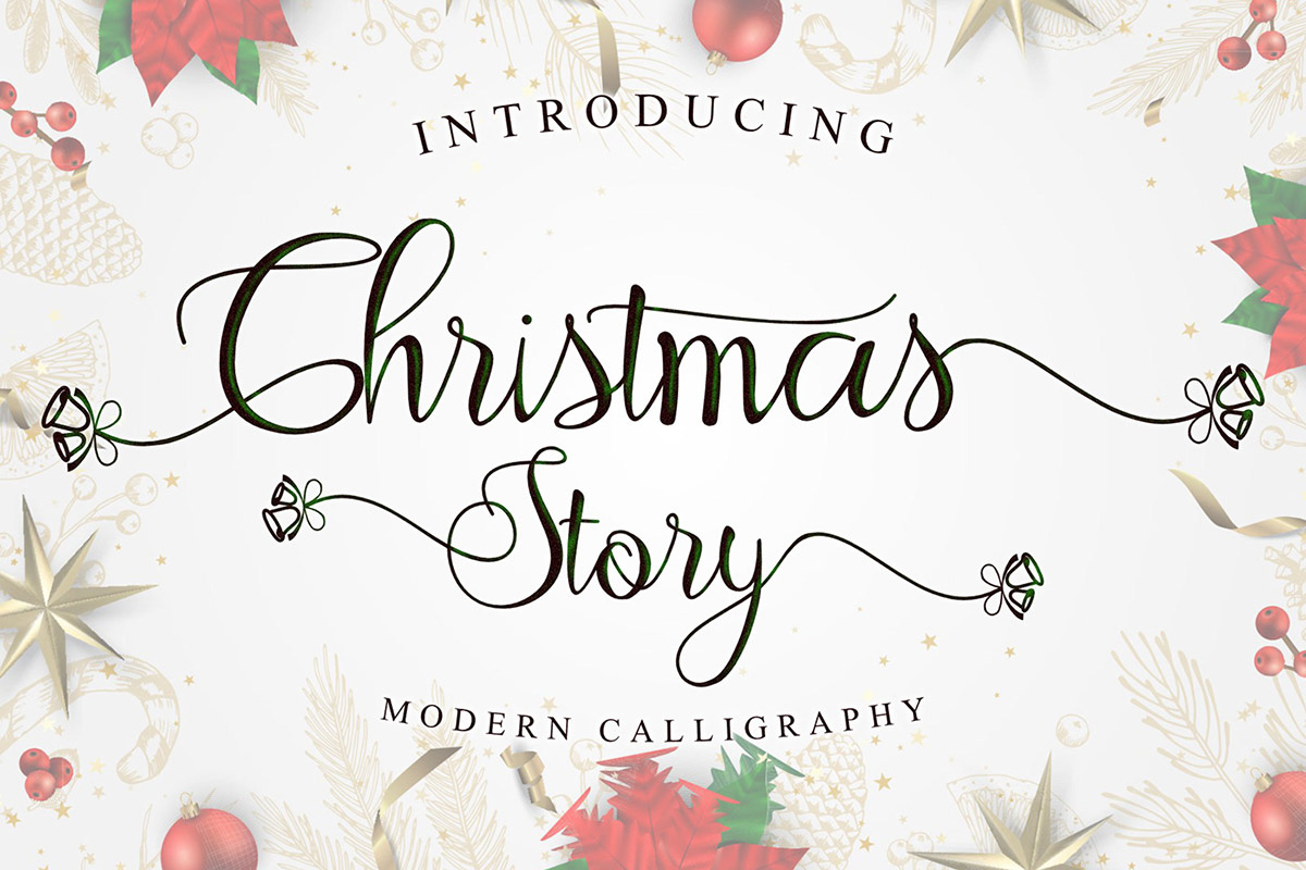 Free Christmas Story Calligraphy Font