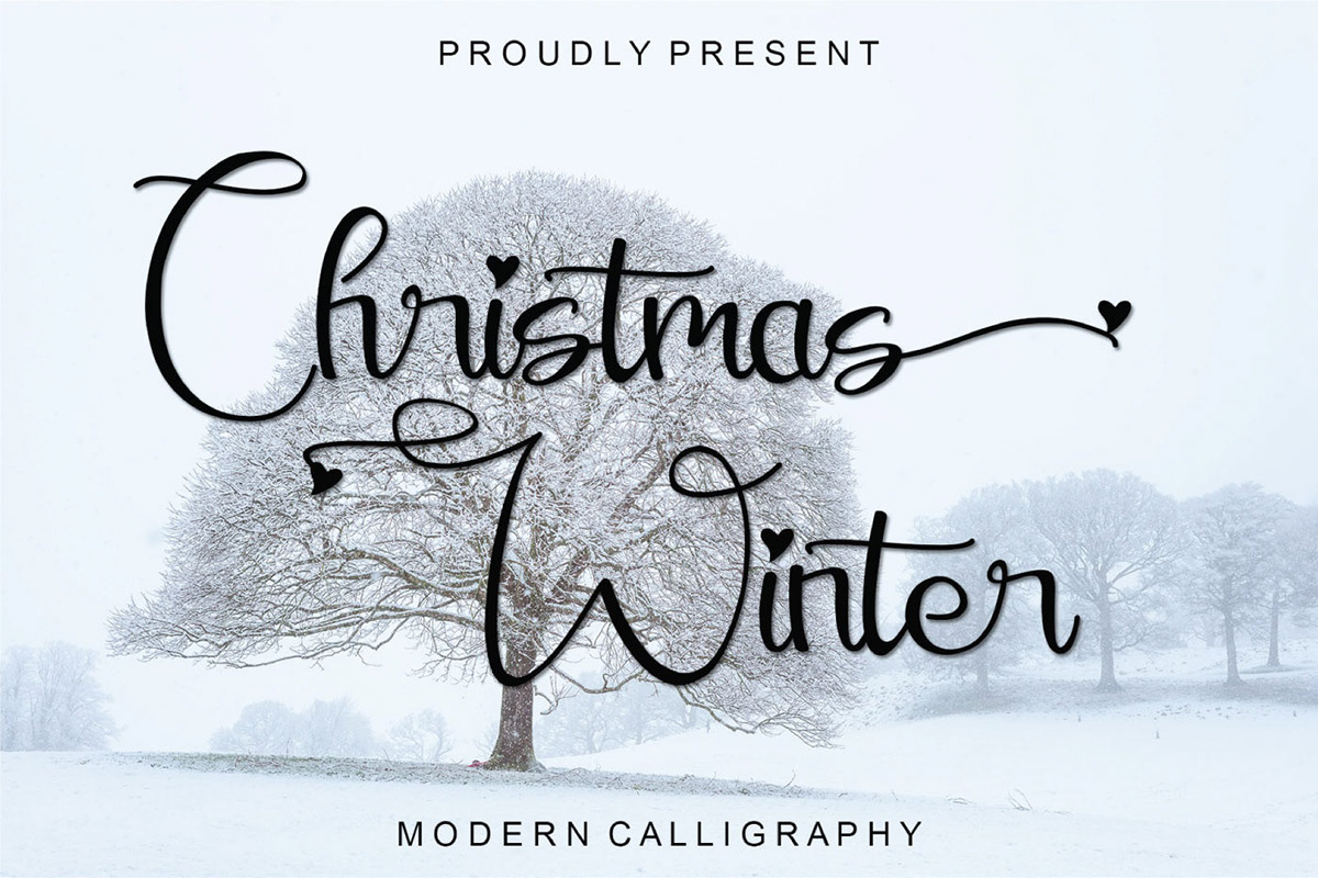 Free Christmas Winter Calligraphy Font