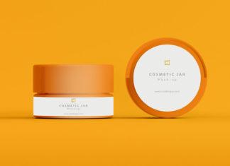 Free Cosmetic Jar Mockup