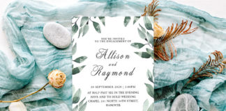 Free Floral Wedding Invitation Template V2