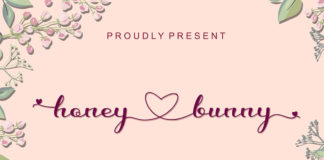 Free Honey Love Bunny Calligraphy Font