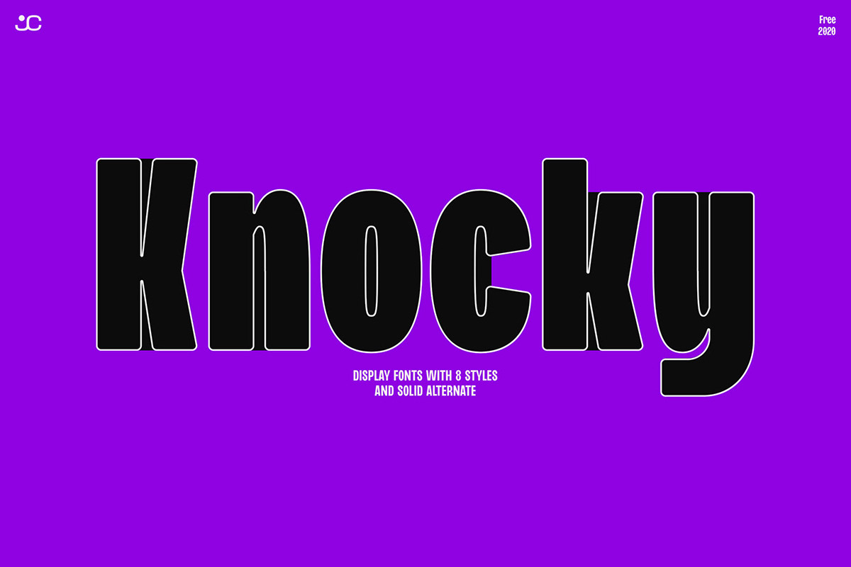 Free Knocky Display Typeface