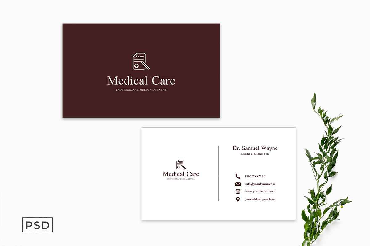 Free Medical Business Card Template Display