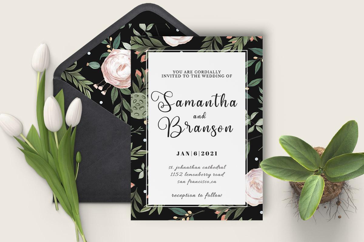 Free Modern Wedding Invitation Template