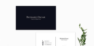 Free Simple Minimalist Business Card Template