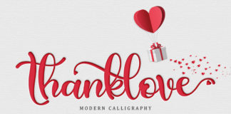 Free Thanklove Calligraphy Font