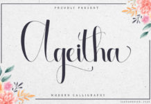 Free Ageitha Calligraphy Font