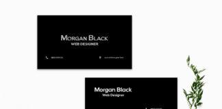 Free Black Minimalist Business Card Template