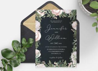 Free Elegant Floral Wedding Invitation Template