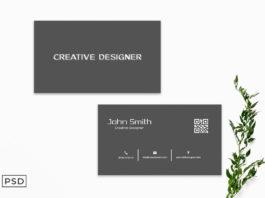 Free Light Black Business Card Template