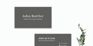 Free Minimal Black Business Card Template