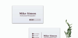 Free Minimal White Business Card Template