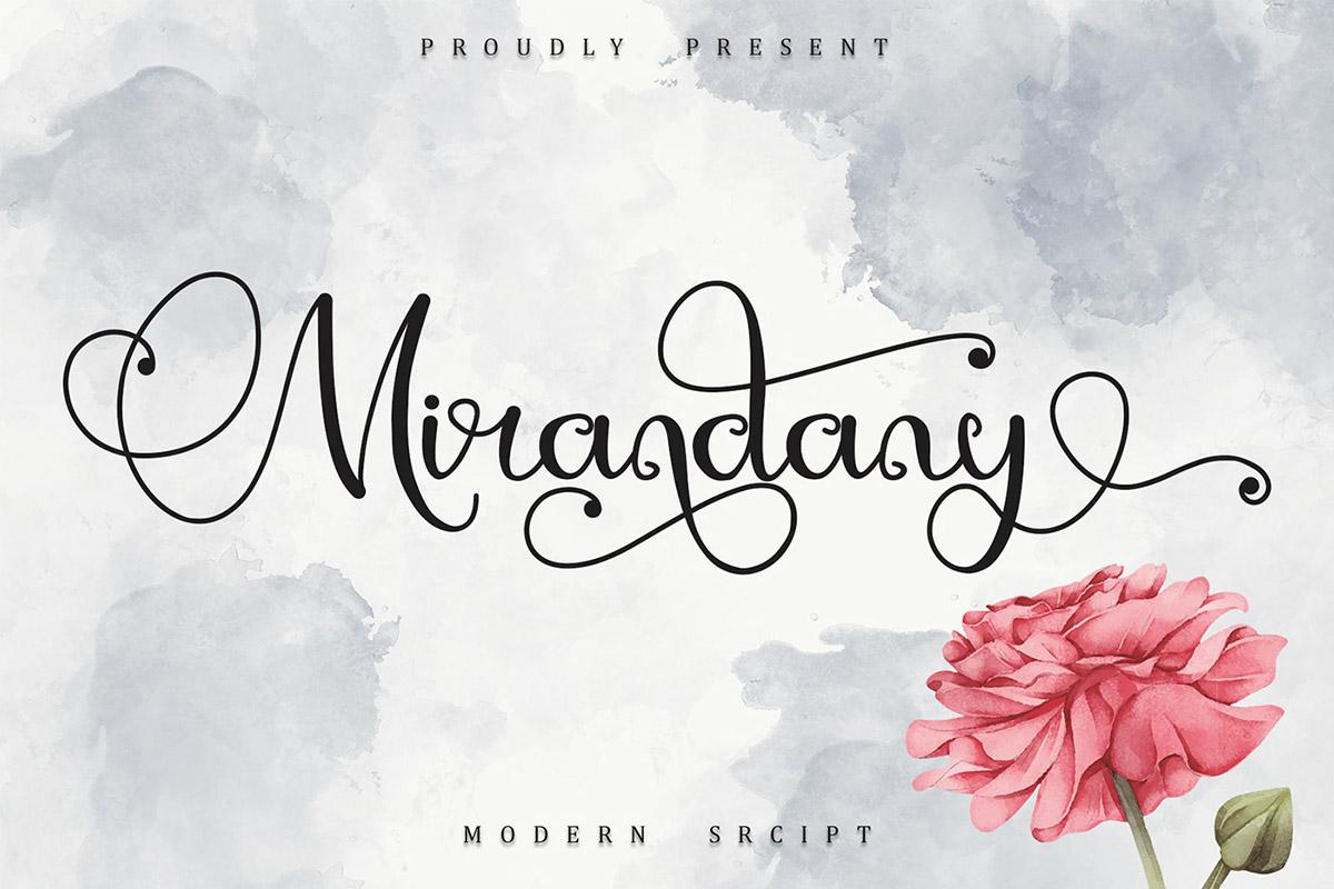 Free Mirandany Script Font