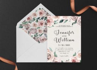 Free Rusty Wedding Invitation Template