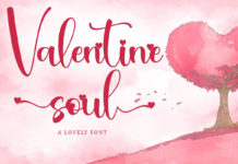 Free Valentine Soul Calligraphy Font
